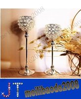 crystal candle holder - wedding decoration home decor candle holders crystal candle holder wedding candlestick MYY11046A