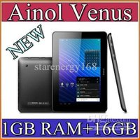 Wholesale DHL Ainol Novo Venus Quad Core tablet PC inch IPS Android GB GB HDMI Dual Camera