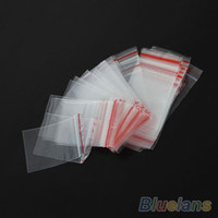 Wholesale 100PCS x6cm x7cm Jewelry Ziplock Zip Zipped Lock Reclosable Plastic Poly Clear Bags Jewelry E