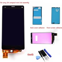 Wholesale For Sony Xperia Z3 compact LCD Z3 mini LCD D5803 D5833 display touch screen digitizer Assembly Adhesive Tools