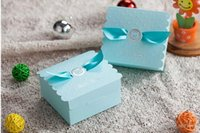 baby shower boy - 75Pcs Baby Boy Party Shower Candy Boxes Summer Style Favor Holders Sky Blue Gift Box