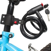 Wholesale GIANT Suitable for all Bike models Common Anti theft Accessories Steel Cable Bicycle Cycling Cycle Lock mm mm Keys Black