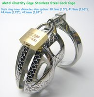 Cheap Hottest Chastity Device Chastity Cage Stainless Steel Cock Cage Male Chastity Belt Penis Rings BDSM Bondage sex Toys