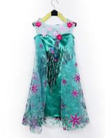 Wholesale 2015 NEW fashion summer Girl clothes Romance princess Frozens dress Anna Elsa dress Movie Cosplay Costume For Kids Girls Dresses