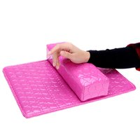 nail equipment - Column Cushion Pillow Salon Hand Holder Rectangle Leather Pad Nail Arm Rest Manicure Nail Art Accessories Tools Equipment H14728