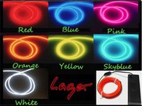 neon rope light led - 1PCS LED Strips Gadget color M Flexible Neon Light Glow EL Wire Rope Car Party Decoration Controller Water Resistant