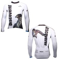 eagles jersey - Paladin Polyester Sportswear Men s Spring Long Sleeve Outdoor Eagle White Cycling Jersey Summer Autumn Breathable Clothes H13946