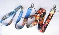 Universal Lanyard  Wholesale Popular Japanese Anime ONE PIECE Lanyards Keychain ID Badge Holder Mobile Phone Neck Straps N06