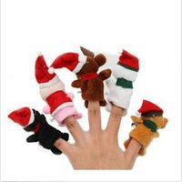 baby es - New SE Eco Friendly Christmas Puppets Santa Claus Snowman Finger Puppets Toy Baby Stories Helper ES