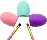 Wholesale 2015 New Fashion Brushegg Silicone Brush Cleaning Egg Professional Makeup Brush Finger Glover Cleanser Free DHL