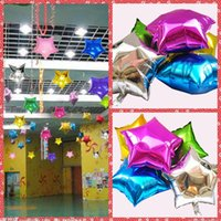 animal house stars - 23 Inches Aluminum Foil Balloons Five Stars For Wedding New Year Celebration Christmas Holiday balloon Birthday party Decoration Cheap