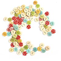 Wholesale 100 Mixed Holes Round Wooden Buttons Sewing Scrapbooking mm DIY Crafts