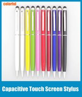 Wholesale Touch Screen Stylus Pen Muti fuction Capacitive and Ball Point Pen in for Iphone Sumsang Ipad HTC etc all Smart CellPhone Tablet STY004