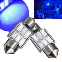 Wholesale Big Promotion Blue MM SMD LED Canbus Error Free Car Auto Festoon Dome Interior Map Door Lights Lamp Bulb DC12V