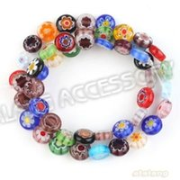 beads string string glass beads - Strings New Style Mixed Assorted Flower Colorful Charms Loose Lampwork Glass Beads Fit Necklace Handcraft