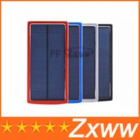 Wholesale 30000 mah Solar Charger and Battery mAh Solar Panel Dual Charging Ports Portable Power Bank for All Cell Phone table PC MP3 HZ