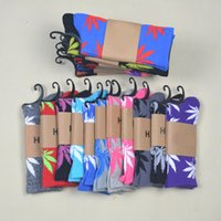 Wholesale High quality sport Socks Skateboard hiphop socks Leaf Maple Leaves Stockings Cotton Unisex Plantlife Socks