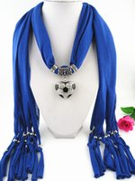 Wholesale Top Popular Jewelry Scarves New Design Soccer surface texture heart shaped pendant scarf