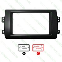 Wholesale 10pcs Car DIN Refitting Radio Stereo DVD Frame Fascia Dash Panel Installation Kits For SUZUKI SX4