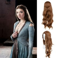 Wholesale Holloween Wigs Margaery Tyrell Hair Wigs Cosplay Wigs Daenerys Targaryen Hair Style The Game Of Thrones Long Hair Wigs