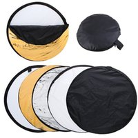 Wholesale 24 inch cm in Gold Silver White Black and Translucent Portable Photography Studio Multi Photo Disc Collapsible Light Reflector