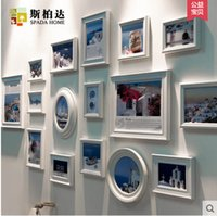 Cheap New Multi Size and Color For Home Decorative Picture Frame Brief Photo Wall Combination Photo Frames,Blue,White,Black Colours