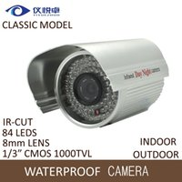 Wholesale Surveillance Cameras Indoor Bullet - Security Camera CMOS 1000TVL HD CCTV Camera Waterproof Night Vision 84 Infrared Led IR Bullet DVR Video Inspect Surveillance Camera WC134-10