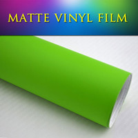 Whole Body auto vinyl matt - 1 x30m x98ft PVC decals stickers car wrap paper sheet satin matt green vinil film wrap for auto motor tuning