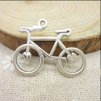 antique bicycle accessories - 20PCS x24MM Retro Antique silver Bicycle Pendant Connector Charms Findings for Bracelet Necklace DIY Jewelry Accessory