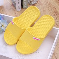 plastic slippers - New Women Flats Sandals and Slippers anti skid plastic slippers Bathroom Slippers Home Couples