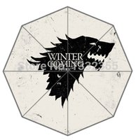 beach house designs - New Arrive Parasol Cool Design Winter Is Coming Family Instructions of House Stark Printed Umbrella Beach Umbrella