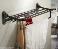 active shelfs - And Retail Oil Rubbed Bronze Moving Active Towel Shelf with Hooks Wall Mount Folding Towel Holder