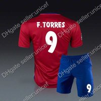 article form - Fernando torres home red soccer jersey with shorts soccer uniforms sportswear camisetas de futbol equipcion mesh form article shirts
