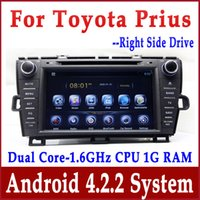 driver car mp3 player - Android Auto PC Car DVD Player GPS Navigation for Toyota Prius Right Hand Driver with Radio Bluetooth TV AUX USB G WIFI Audio Navigator