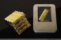 Wholesale Gold Bar GB GB GB GB Metal USB Flash Memory Drives Pen Drives USB Flash Drive Card Memory Stick Drives Pendrive Iron