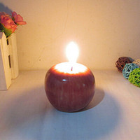 Wholesale New CoolMall Top Selling Christmas Red Apple Shape Fruit Scented Candle Home Decoration Greet Gift