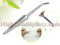angled nail clippers - Hot pc Nail Art Angle Curved Tweezer Rhinestones Picking Tool Makeup Nipper Clipper