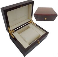 al por mayor '' puerta dh-La nueva caja de reloj de madera roja de la marca de fábrica al por mayor de lujo modifica insignia, OEM, servicio de envío de la gota, negocio de la fábrica de las cajas de embalaje de China en puerta del DH