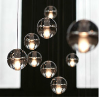 crystal chandelier lighting - Pendant Lamp Head Bocci LED Crystal Glass Ball Meteor Rain Ceiling Light Meteoric Shower Stair Light Droplight Chandelier Lights