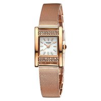 band business - Big Sale Fashion Bracelet Casual Rhinestone Case Watches Women Mesh Steel Band Rose Gold Quartz Watch Business Dress Wristwatch