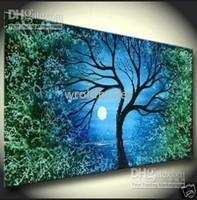 Cheap Modern Abstract Canvas Art Oil Painting-Tree wall decor