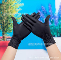 tattoo gloves - Disposable nitrile butadiene rubber latex gloves black tattoo glove dyeing industrial gloves Y30218