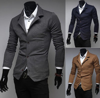 Wholesale New arrivelmens suit jacket casual blazer slim fit Spring new fashion casual single breasted knit men suits X5639F