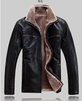 Wholesale Fall NEW winter mens fur collar genuine sheepskin leather jacket Big yards warm leather coat parka XL XL