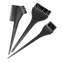 Wholesale 1 Sets Black Pro Salon Hair Dryer Color Bowl Combo Coloring Brush Kit Set Tint Styling Tools Hotting