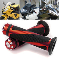 Wholesale Motorcycle Grips Aluminum Rubber CNC Handle Bar Hand Grips BLACK RED MM MOTOR Grips Purple RED BLUE SILVER BLACK GOLD Green