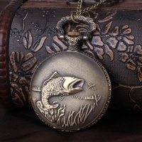 Cheap Factory Direct Foreign Trade Brand New King Size Lucky Fashion Simple And Elegant Vintage Big Carp Fish Pocket Watches