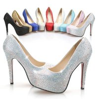 Cheap 2015 New Luxury Wedding Bride Shoes 8cm 11 cm 14cm High-heeled Crystal Prom Evening Party Wedding Bridal Shoes