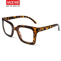 Wholesale Big mocare vintage glasses leopard print male Women classic big box eyeglasses frame picture frame