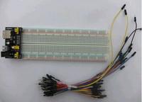 Wholesale 3 V V MB102 electronic breadboard power module MB point solderless breadboard kit pc Flexible breadboard jumper wires
